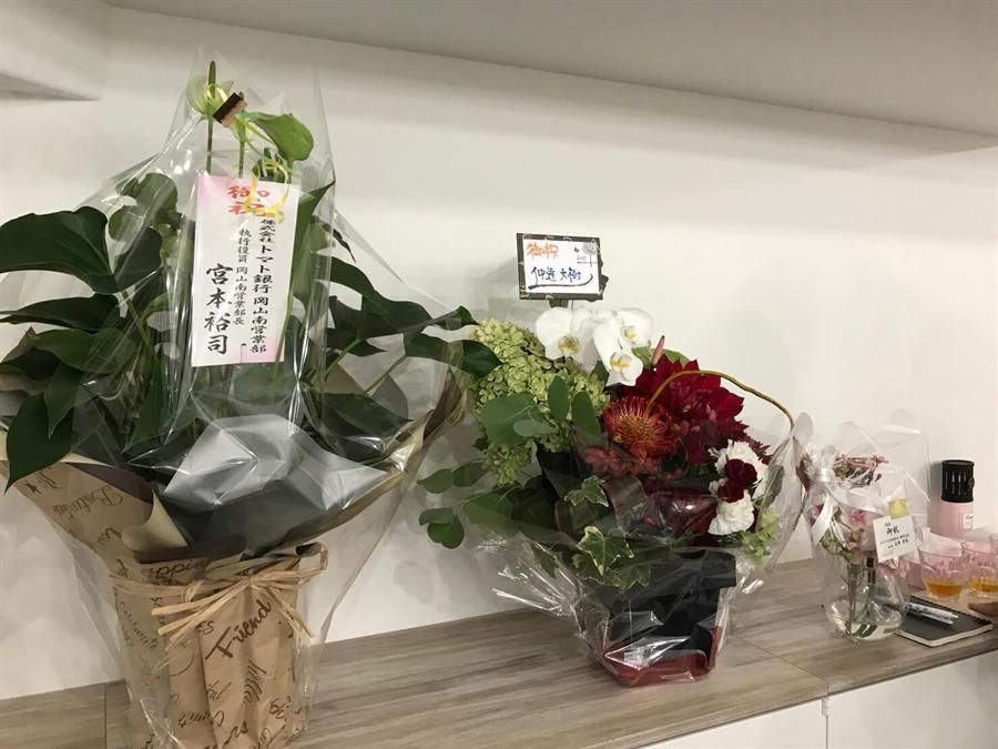 ワクサテ内に飾ったお花